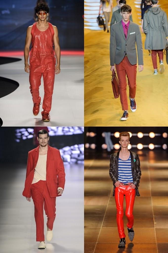 Calça vermelha para os homens