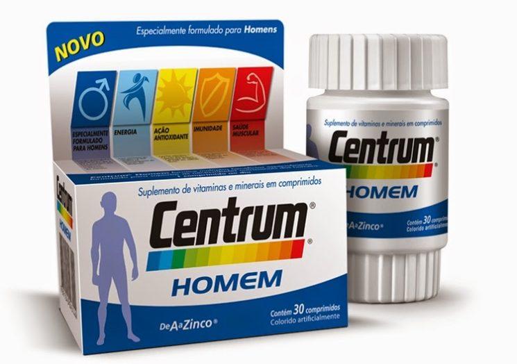 Suplemento Masculino: Centrum Homem