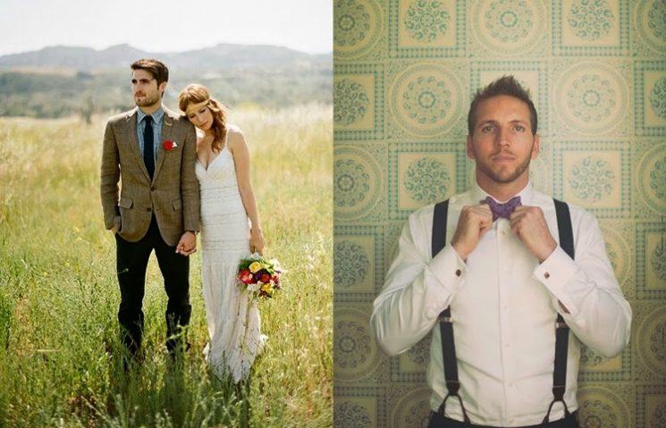 16 inspirações para noivos que querem casar sem terno