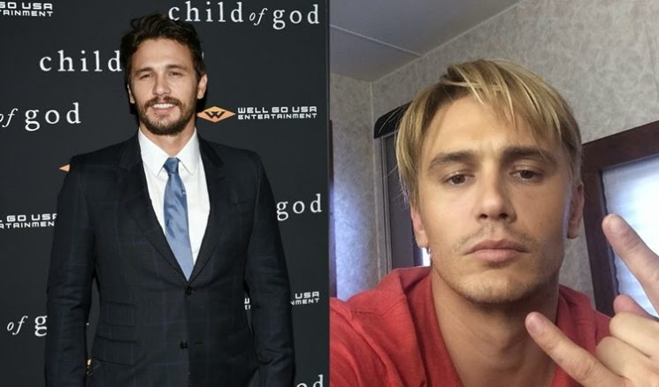 James Franco e seu novo visual liso e platinado