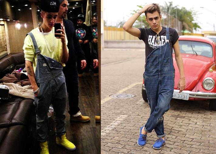 Inspiração: Justin Bieber e macacão para homens
