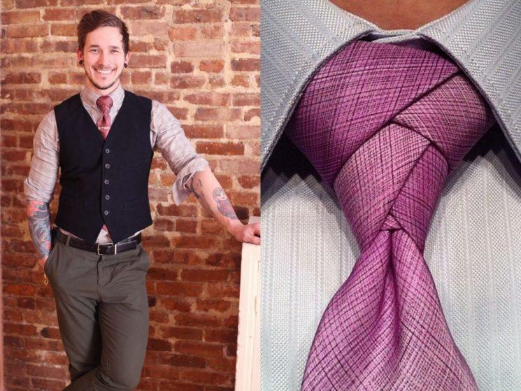 Como fazer nó de gravata diferente