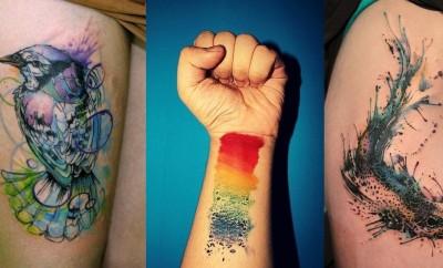 Watercolor Tattoo, tatuagem aquarela, fotos de tatuagens, tatuagens 2015, tatuagens masculinas, blog de moda, moda masculina, estilo masculino, menswear, menstyle, fashion blogger, blogger, alex cursino, moda sem censura, 2