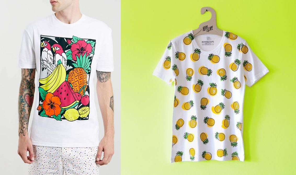 Super Camiseta masculina com estampa de frutas - MODA SEM CENSURA | BLOG  KS56