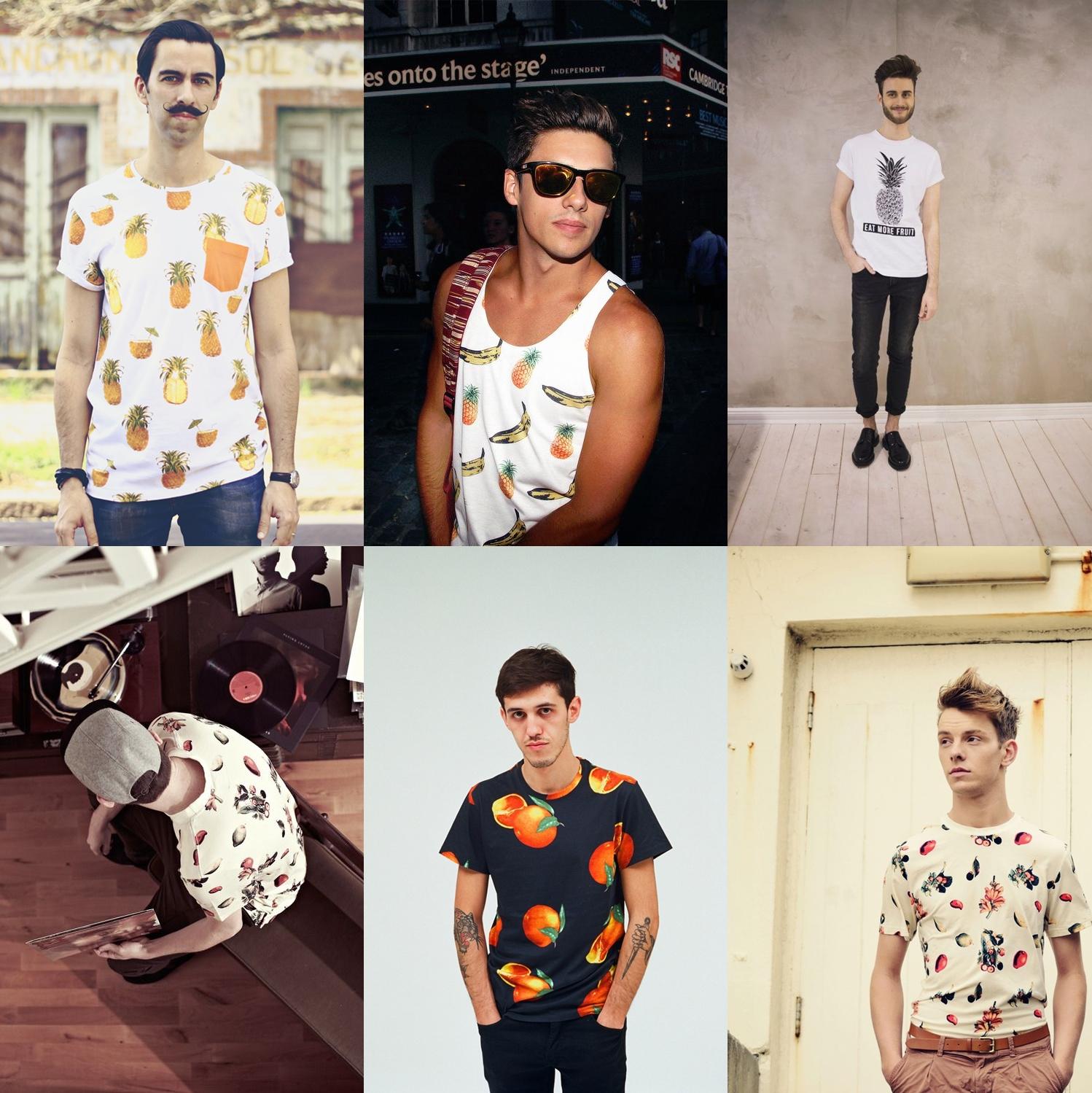 camiseta de fruta masculina 2014, estampa de frutas para homens, moda masculina, estilo masculino, menswear, menstyle, fashion blogger, blog de moda, moda sem censura, alex cursino, tendencia masculina, verão 2015,