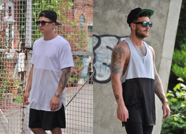 Camisetas oversized para homens