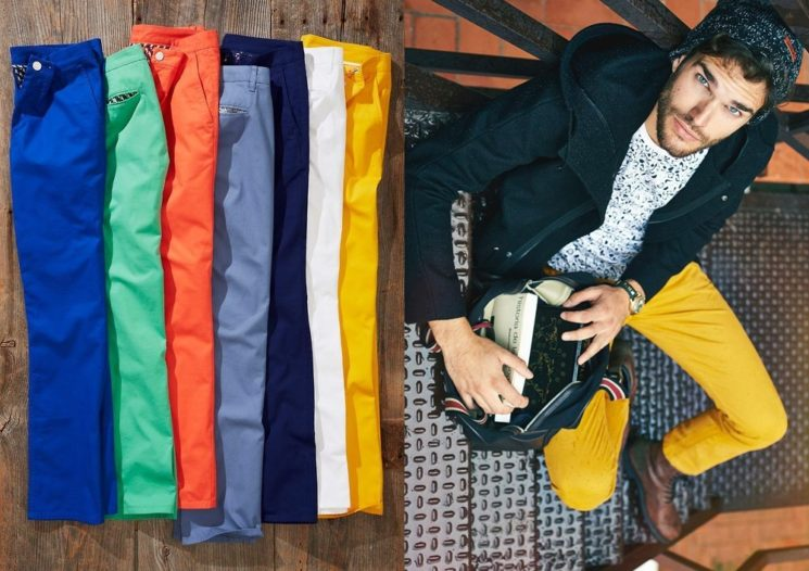 Calça colorida para homens