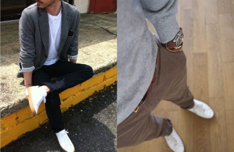 O uso do tênis branco para homens