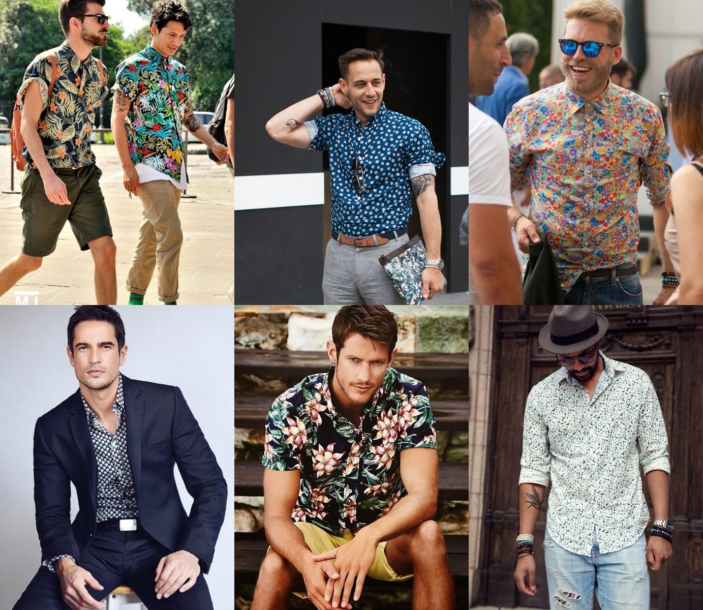 Camisas estampadas para homens - MODA SEM CENSURA  6339c6c10576b