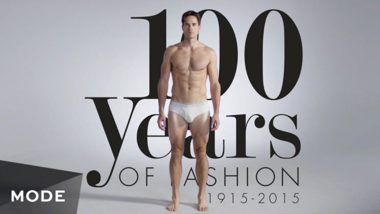 100 anos de moda masculina em menos de 3 minutos