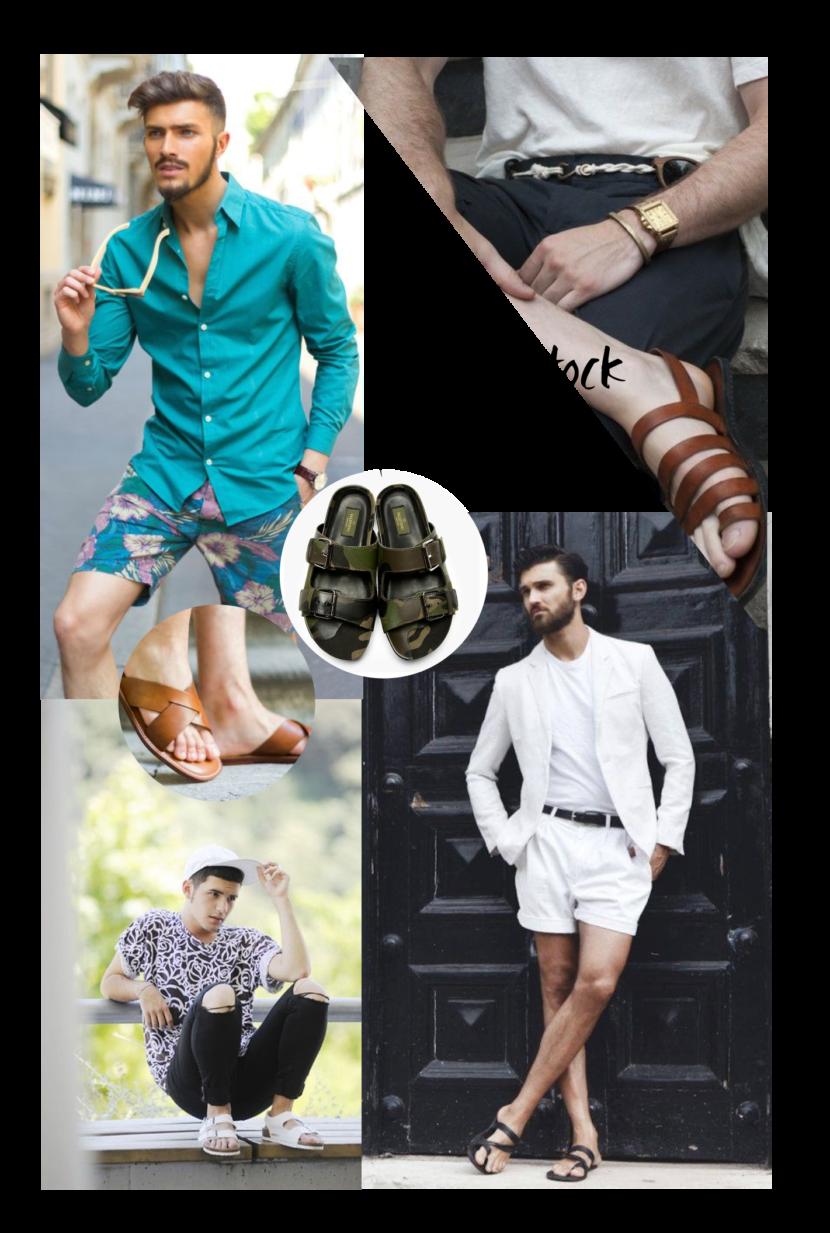 Sandálias masculinas para o Verão 2016