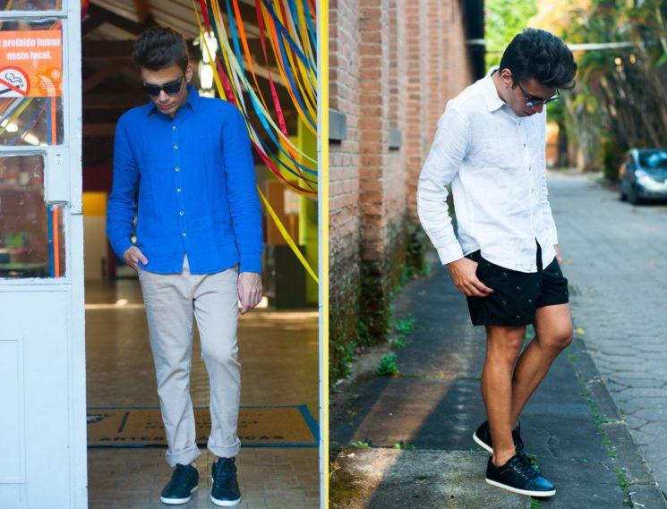 4 looks masculinos estilosos pros dias quentes