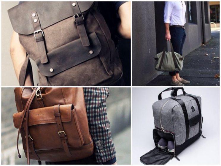 Bolsas masculinas para vários estilos