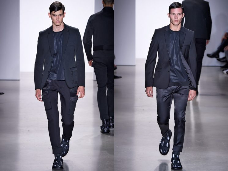 A tendência do look monocromático para homens