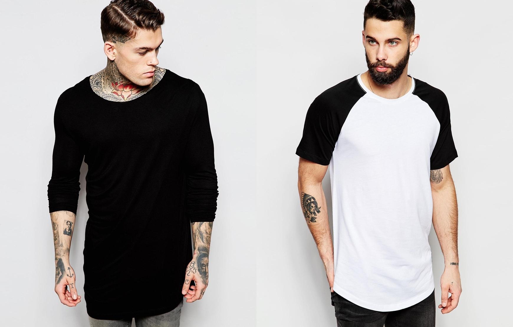 46a4327ce76cb Longline  as famosas camisetas mais longas - MODA SEM CENSURA