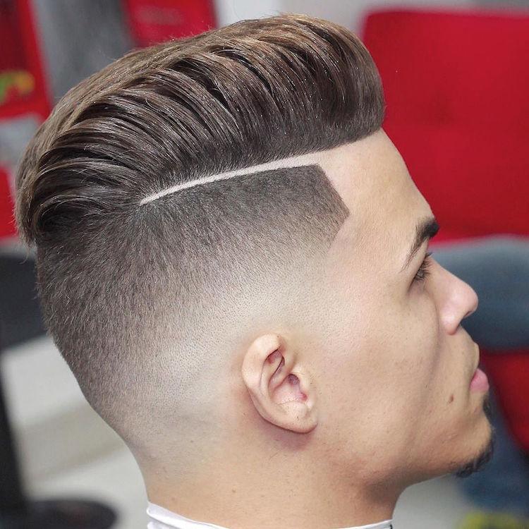 Cortes de cabelo masculino com risquinho