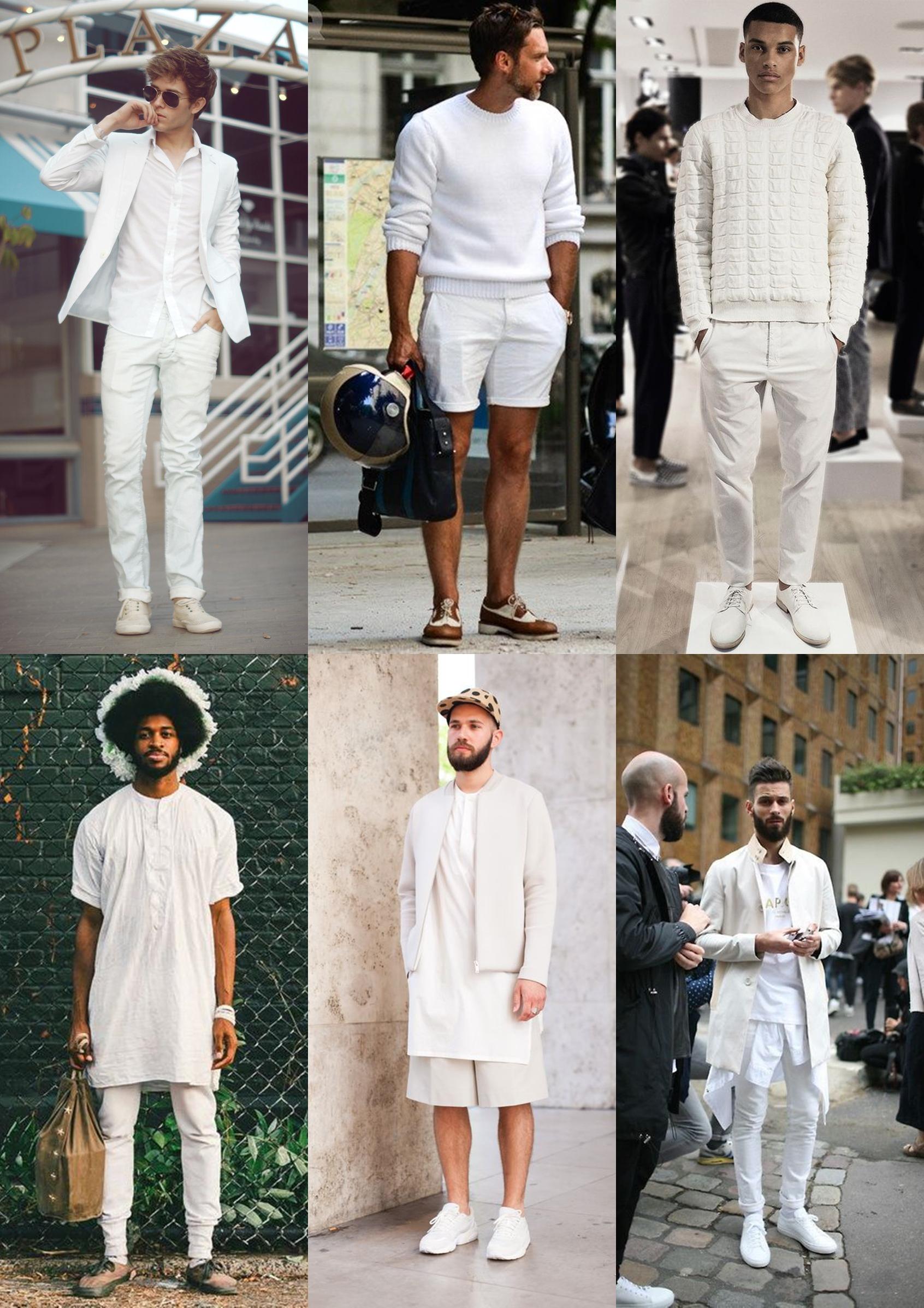 tenis branco, look branco, look masculino, all white menswear, moda ...