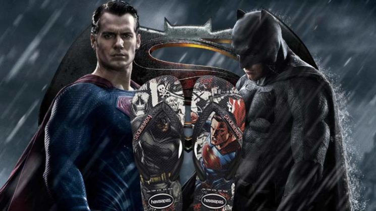 Havaianas cria coleção Batman vs. Superman