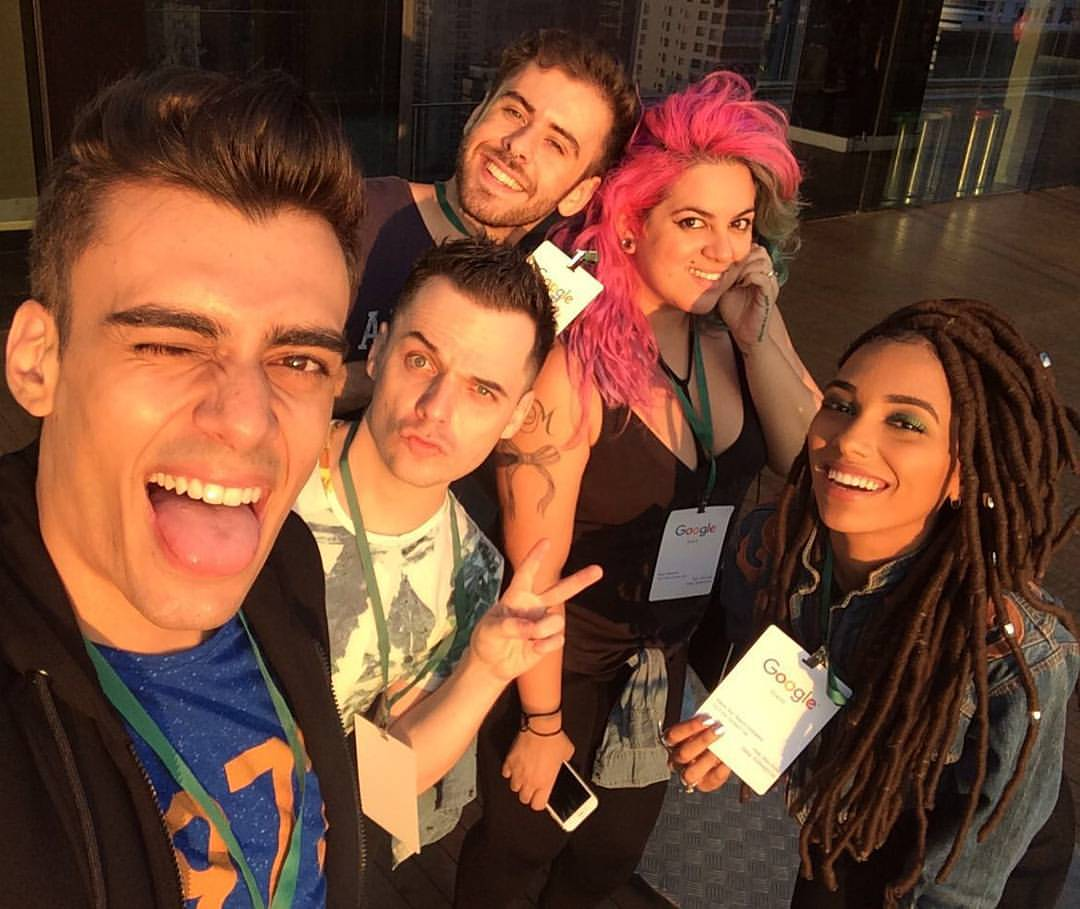 alex cursino, alice salazar, fer escarião, nataly neri, maira medeiros, lorelay fox, youtubers, youtube space, escritório do google, google brasil, digital influencer, social media, ellus, nike air max, (2)