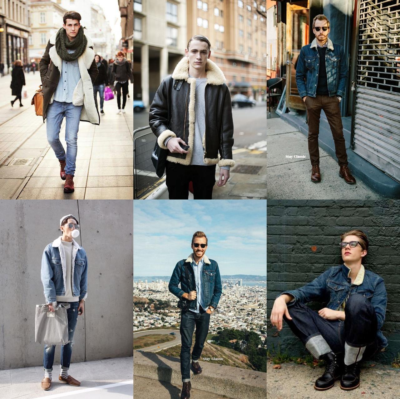jaqueta pele de carneiro, jaqueta masculina, Sherpa Trucker Jacket. moda masculina, menswear, blogger, blog de moda, alex cursino, moda sem censura, dicas de moda, 4