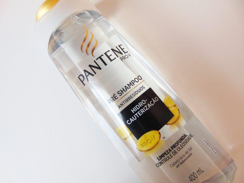 Limpeza profunda dos cabelos com o pré shampoo da Pantene