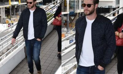 Liam Hemsworth, miley cyrus, look do dia, look masculino, ootd men, outfit, jacket bomber, jaqueta bomber, moda masculina, alex cursino, moda sem censura, dicas de moda, dicas de estilo,