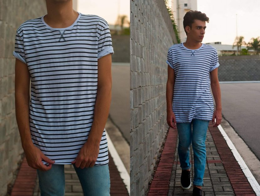 Outfit do dia #18: Camiseta long listrada
