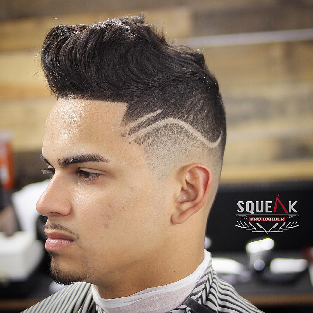 Taper haircut with designs
