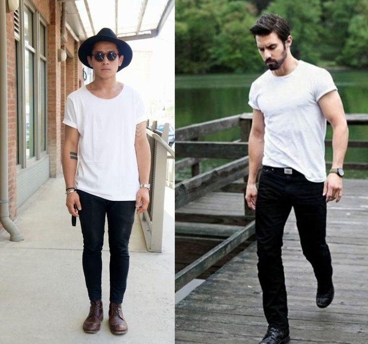 6 formas diferentes de usar camiseta branca