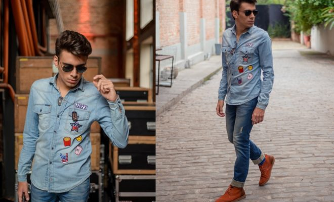 alex-cursino-blogger-youtuber-camisa-jeans-masculina-como-usar-patches-tendencia-2017-roupa-2017-digital-influencer-social-media-ootd-look-do-dia-fhits-tv-blogueiro-de-moda-style-1-ho