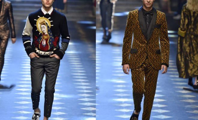 Dolce Gabbana Milan Menswear Fall Winter 2017, desfile masculino, tendencia masculina, inverno 2017, winter 2018, alex cursino, blog de moda, moda sem censura (25)-horz