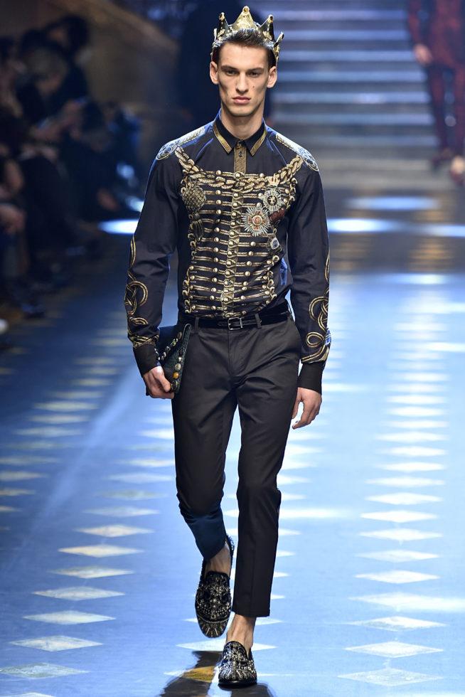 Baú da Moda Masculina: Milão: DOLCE AND GABBANA Inverno 2017