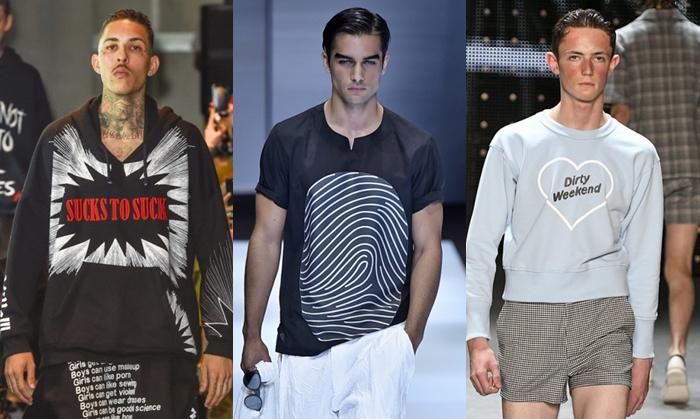 As roupas masculinas de 2017