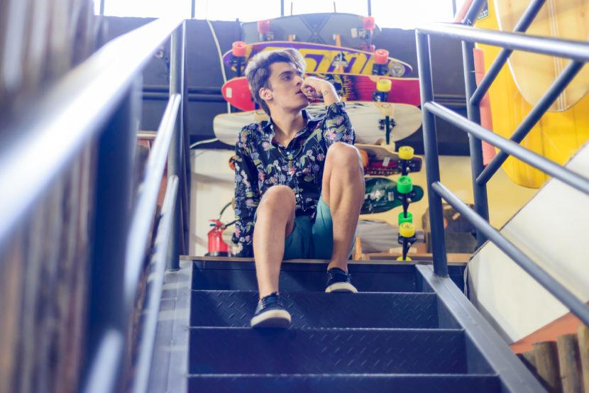 Shooting #5: camisa masculina estampada e verão