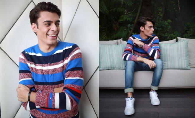 alex cursino, qg fhits, blogueiro de moda, suéter, jeans, tênis branco masculino, dicas de moda, moda sem censura, (1)1
