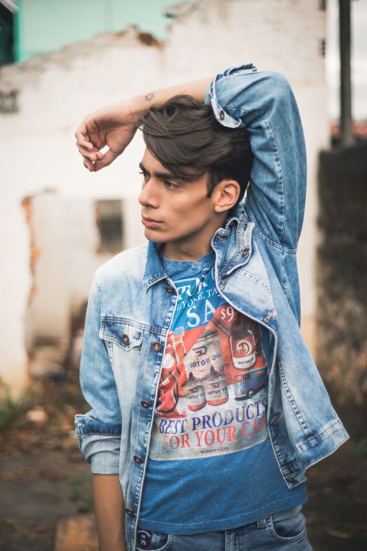 Shooting #7: jaqueta jeans, inspiração anos 80