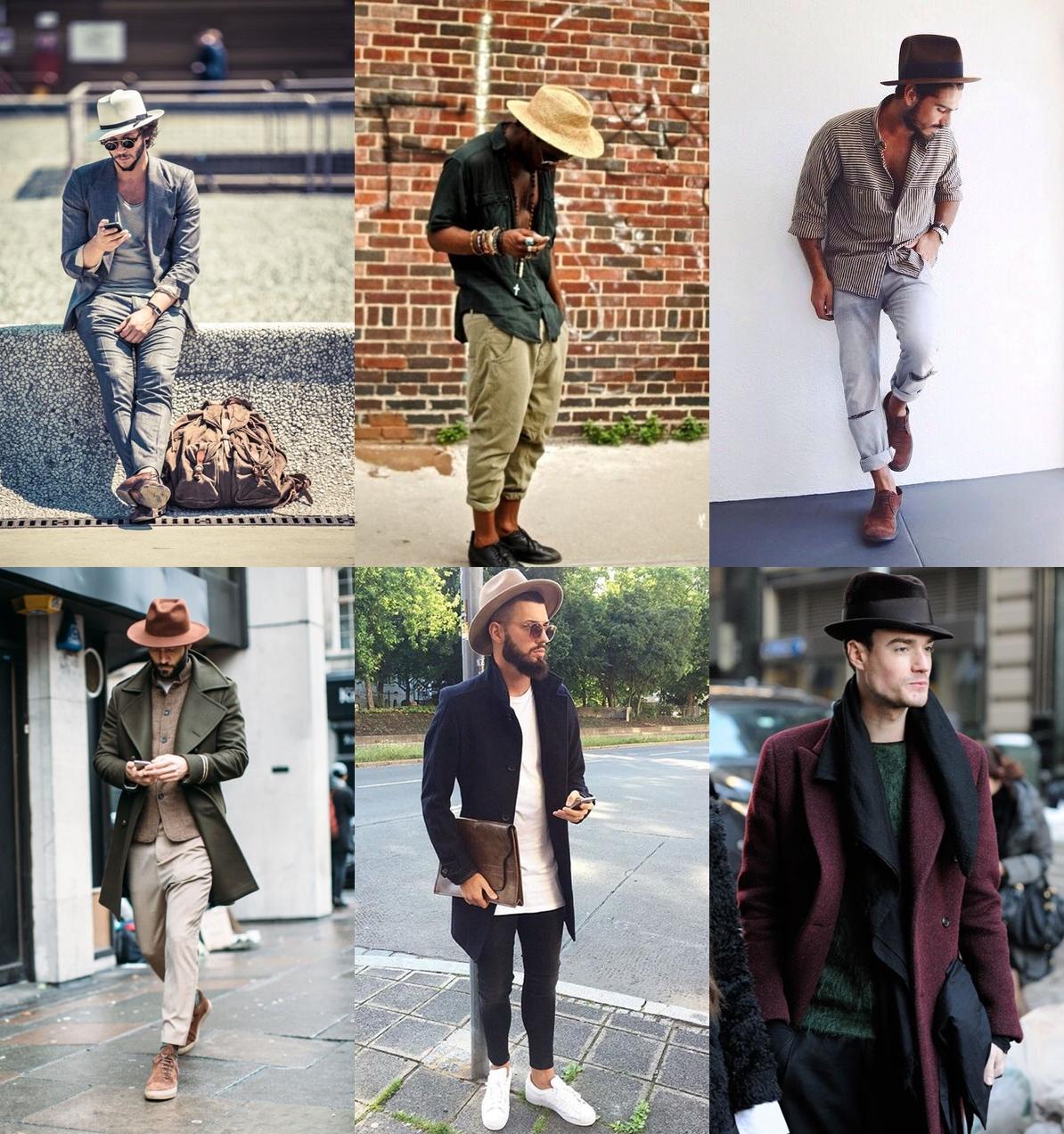 como usar chapeu masculino, como combinar chapéu, chapéu 2017, tendência masculina, tendencia masculina 2017, inverno 2017, roupa masculina, estilo masculino,