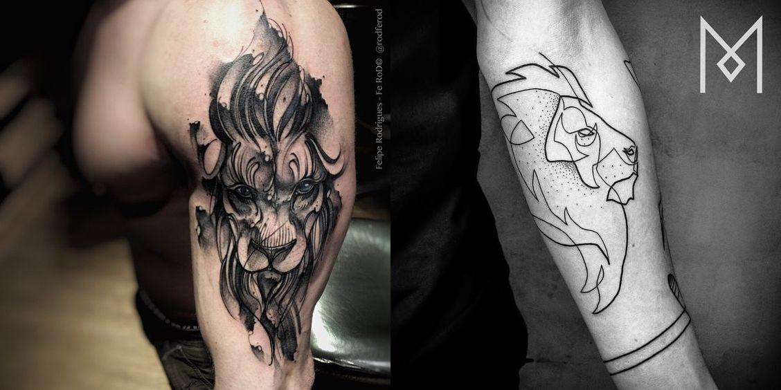 tatuagem de leão, desenho leão, tatuagem potilhada, tatuagem aquarela, alex cursino, inspirações, como fazer, grooming, blog de moda masculina, menswear, dicas de moda para homens (1)-horz