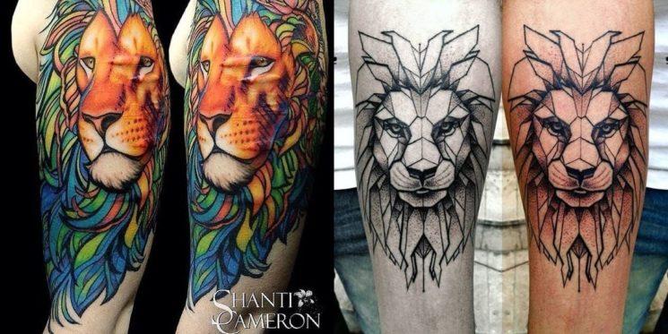 22 tipos de tatuagem de leão para se inspirar