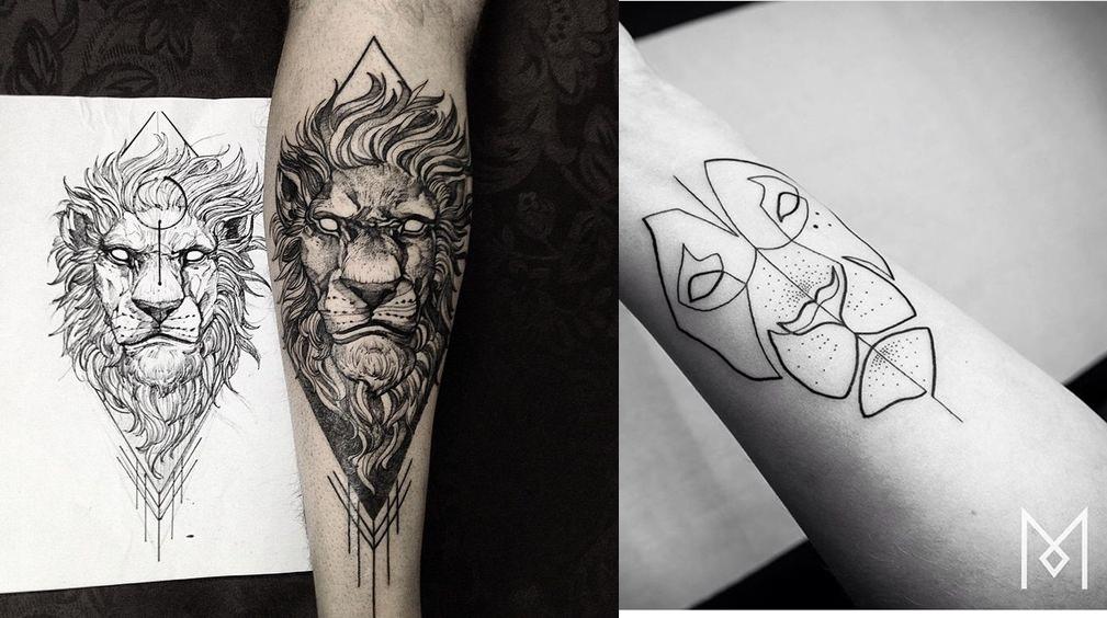 22 tipos de tatuagem de le o para se inspirar moda sem censura blog de moda masculina. Black Bedroom Furniture Sets. Home Design Ideas