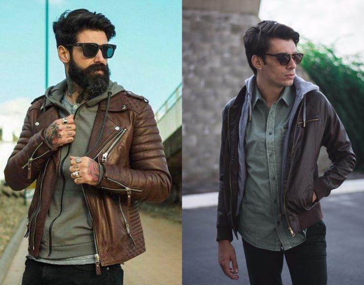 Várias maneiras de usar a jaqueta de couro masculina