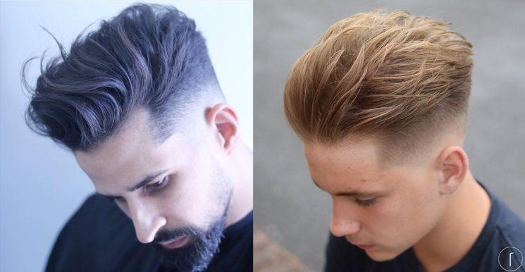 Tendência masculina: penteado masculino com movimento