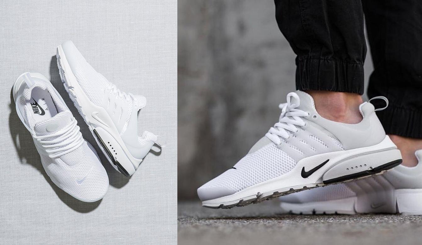 c58e79239 Por mais que tenha um aparência total esporte, o Nike Air Presto é também  um ótimo modelo de tênis masculino branco para investir.