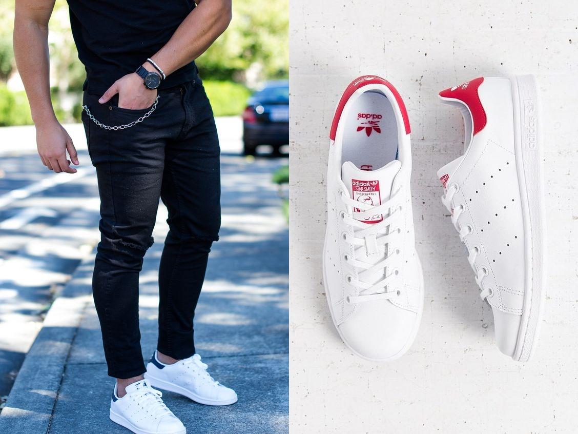 O modelo da Adidas em parceria com Stan Smith resultou num calçado  confortável e que foi para vários estilos masculinos. 101204d5313af