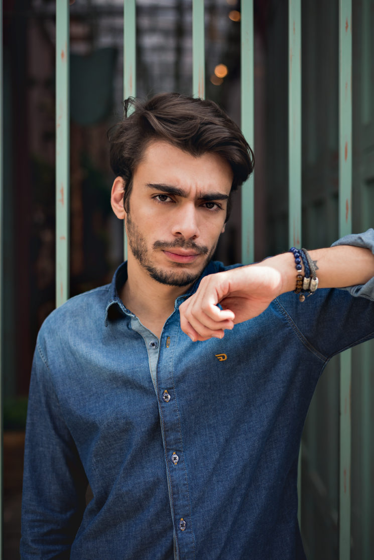 Shooting #12: total jeans masculino em tons diferentes