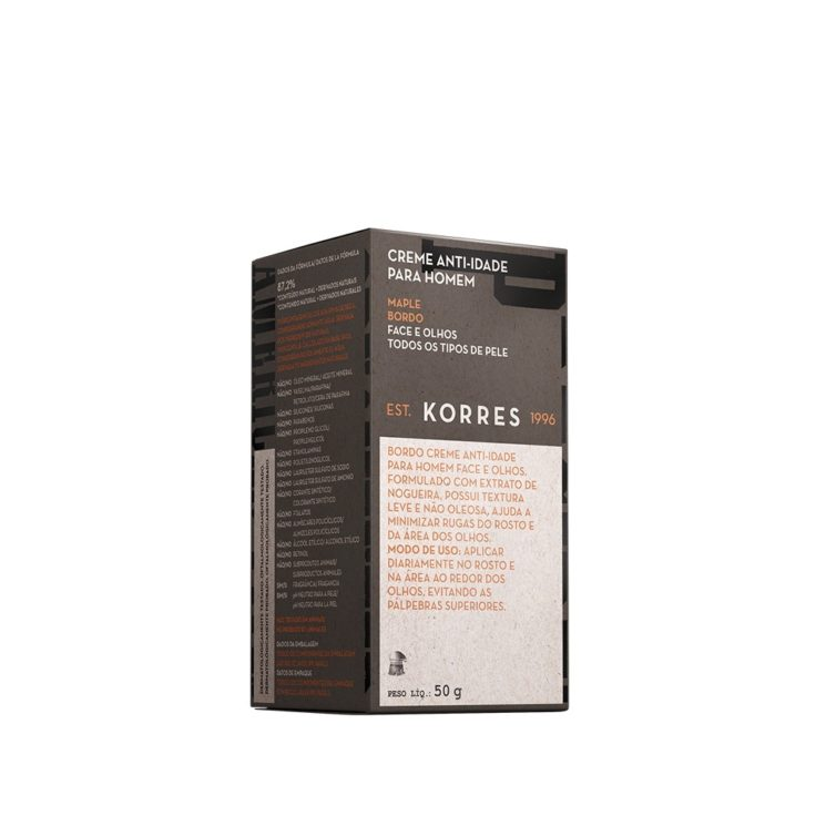 Conheça o creme anti-idade masculino da Korres