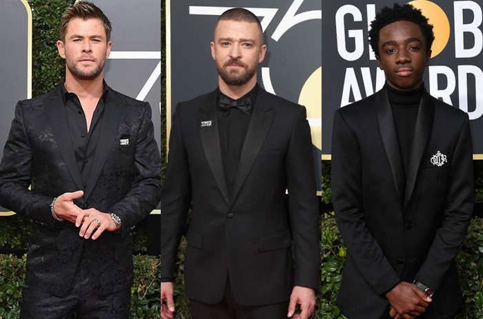 Os looks masculinos do Golden Globe 2018
