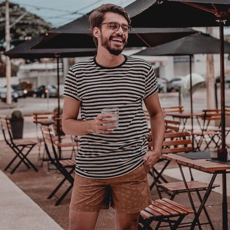 Outfit do dia #25: bermuda curta masculina e listras