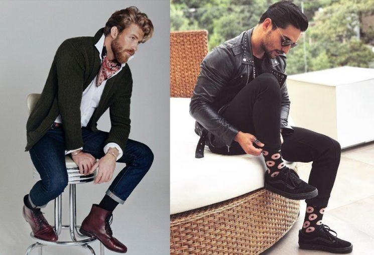 Usar meia preta cano alto é tendência para os homens
