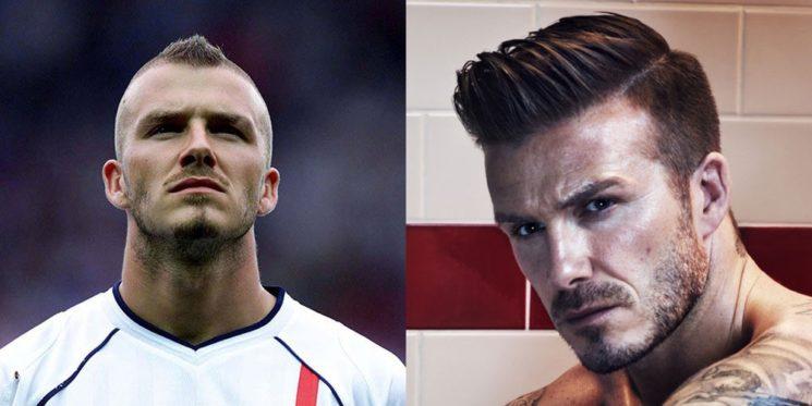 Os cortes de cabelo do David Beckham